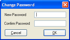 Picture of the change password window.